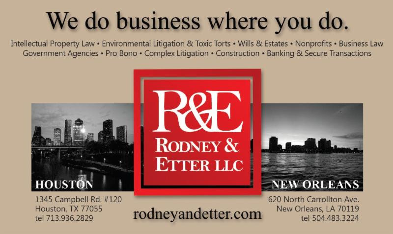 0bf7d938c80 Rodney & Etter, LLC is a law firm comprised of a diverse group of lawyers  with backgrounds in business, government, and science. We practice in New  Orleans ...